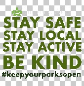 Keep your parks open campaign graphics